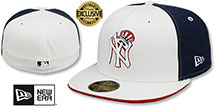 Yankees DECEPTOR PINWHEEL White-Navy Fitted Hat by New Era