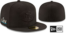 49ers SUPER BOWL LIV TEAM-BASIC BLACKOUT Fitted Hat by New Era