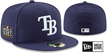 Rays '2020 WORLD SERIES' GAME Fitted Hat by New Era