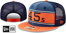 Colt .45s COOP HERITAGE-BAND TRUCKER SNAPBACK Navy-Orange Hat by New Era