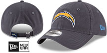 Chargers CORE-CLASSIC STRAPBACK Charcoal Hat by New Era