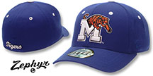 Memphis 'DHS' Fitted Hat by Zephyr - royal