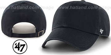 47 'BLANK CLASSIC STRAPBACK' Black Adjustable Hat