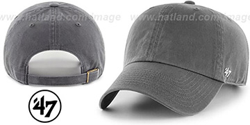 47 'BLANK CLASSIC STRAPBACK' Charcoal Adjustable Hat