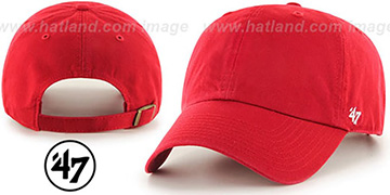 47 BLANK CLASSIC STRAPBACK Red Adjustable Hat