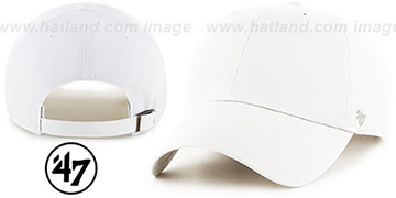 47 BLANK CLASSIC STRAPBACK White Adjustable Hat