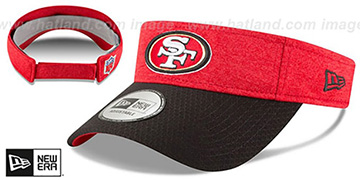 49ers 18 NFL STADIUM Red-Black Visor by New Era