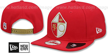 49ers '1965-72 RETRO-BASIC SNAPBACK' Red Hat by New Era