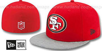 49ers 2014 NFL DRAFT Red Fitted Hat by New Era