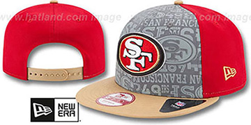 49ers '2014 NFL DRAFT SNAPBACK' Red-Gold Hat by New Era