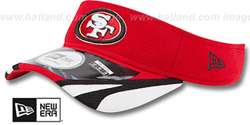 49ers '2014 NFL TRAINING' Red Visor by New Era