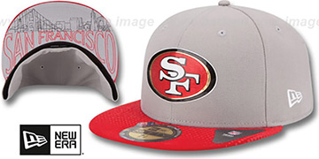 49ers '2015 NFL DRAFT' Grey-Red Fitted Hat by New Era