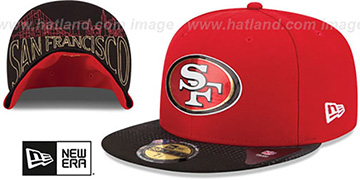 49ers '2015 NFL DRAFT' Red-Black Fitted Hat by New Era