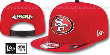 49ers '2015 NFL DRAFT SNAPBACK' Red Hat by New Era