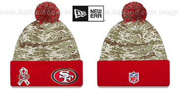 49ers 2015 SALUTE-TO-SERVICE Knit Beanie Hat by New Era