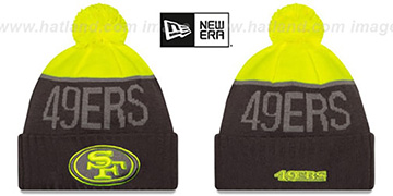49ers 2015 STADIUM Charcoal-Yellow Knit Beanie Hat by New Era