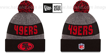 49ers '2016 STADIUM' Black-Red-Grey Knit Beanie Hat by New Era