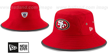 49ers 2017 NFL TRAINING BUCKET Red Hat by New Era