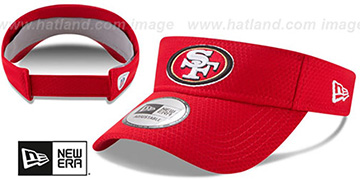 49ers '2017 NFL TRAINING VISOR' Red by New Era