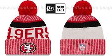 49ers '2017 STADIUM BEANIE' Red Knit Hat by New Era