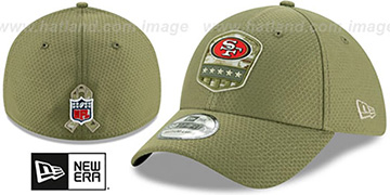 49ers 2019 SALUTE-TO-SERVICE FLEX Olive Hat by New Era