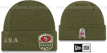 49ers 2019 SALUTE-TO-SERVICE Knit Beanie Hat by New Era