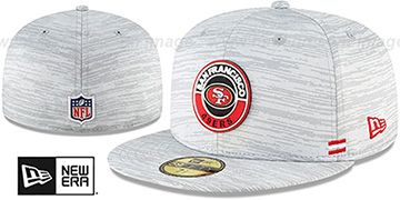 49ers 2020 ONFIELD STADIUM Heather Grey Fitted Hat by New Era