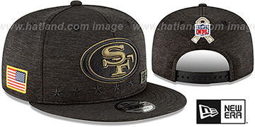 49ers 2020 SALUTE-TO-SERVICE SNAPBACK ST Black Hat by New Era