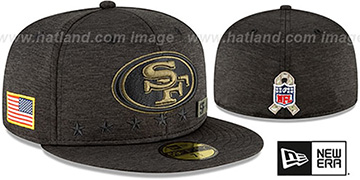 49ers 2020 SALUTE-TO-SERVICE ST Black Fitted Hat by New Era