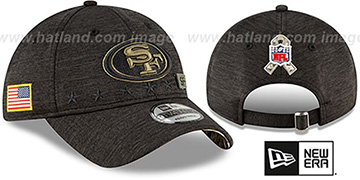 49ers 2020 SALUTE-TO-SERVICE STRAPBACK ST Black Hat by New Era