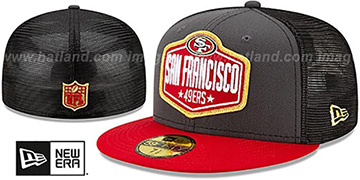 49ers 2021 NFL TRUCKER DRAFT Fitted Hat by New Era