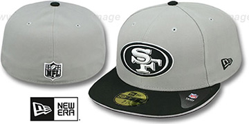 49ers '2T SPLIT NFL TEAM-BASIC' Grey-Black Fitted Hat by New Era