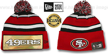 49ers 'BIG-SCREEN' Knit Beanie Hat by New Era