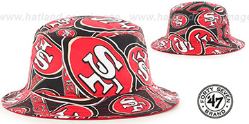49ers 'BRAVADO BUCKET' Hat by Twins 47 Brand