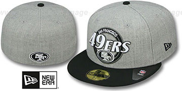 49ers CIRCLE-CLOSER Grey-Black Fitted Hat by New Era