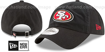 49ers CORE-CLASSIC STRAPBACK Black Hat by New Era