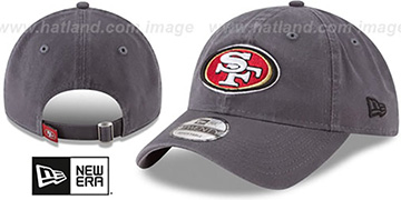 49ers CORE-CLASSIC STRAPBACK Charcoal Hat by New Era