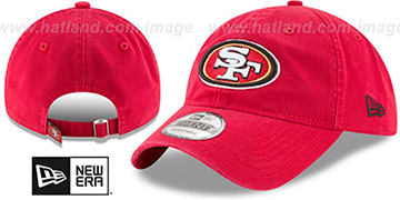 49ers CORE-CLASSIC STRAPBACK Red Hat by New Era