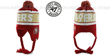 49ers 'CRANBROOK' Knit Beanie Hat by Twins 47 Brand