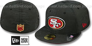 49ers 'DIGIFLECT' Black Fitted Hat by New Era