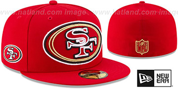 49ers 'FRAME-FRONT' Red Fitted Hat by New Era