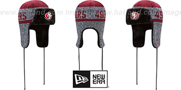 49ers 'FROSTWORK TRAPPER' Red Knit Hat by New Era
