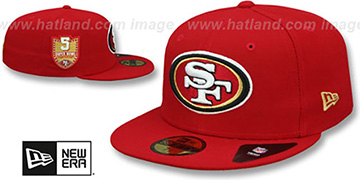 49ers 'GOLDEN-HIT' Red Fitted Hat by New Era