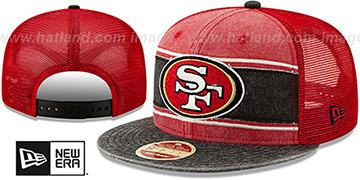 49ers HERITAGE-BAND TRUCKER SNAPBACK Red-Black Hat by New Era