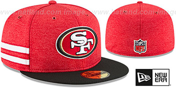 49ers HOME ONFIELD STADIUM Red-Black Fitted Hat by New Era