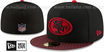 49ers 'HONEYCOMB STADIUM' Black Fitted Hat by New Era