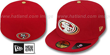 49ers 'ILLUSION' Red Fitted Hat by New Era