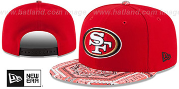 49ers KALEIDOVIZE SNAPBACK Red Hat by New Era