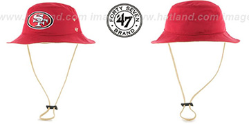 49ers KIRBY BUCKET Red Hat by Twins 47 Brand