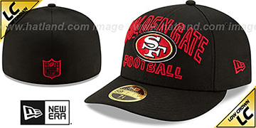 49ers LOW-CROWN ALT 2020 NFL VIRTUAL DRAFT Black Fitted Hat by New Era